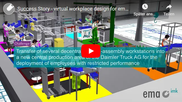 Success Story Daimler Truck AG - virtual workplace design for employees with restricted performance